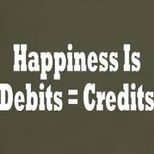 Happiness Debits = Credits